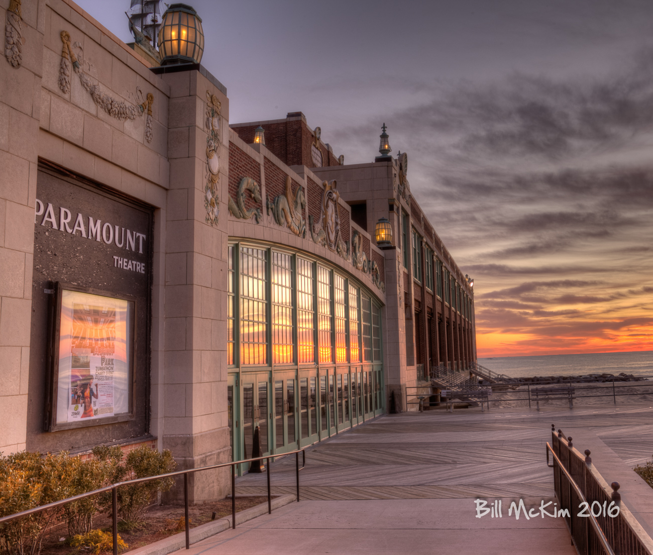 Convention Hall, Asbury Park Sunrise