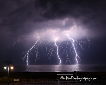 Triple Strike Lightning Photo Bill Mckim Belmar NJ