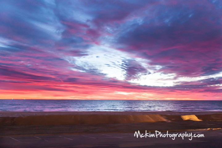 Belmar beach January sky 2013